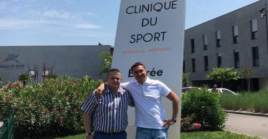 Стажировка в Clinique du Sport, Бордо