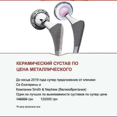 Керамический сустав по цене коленного